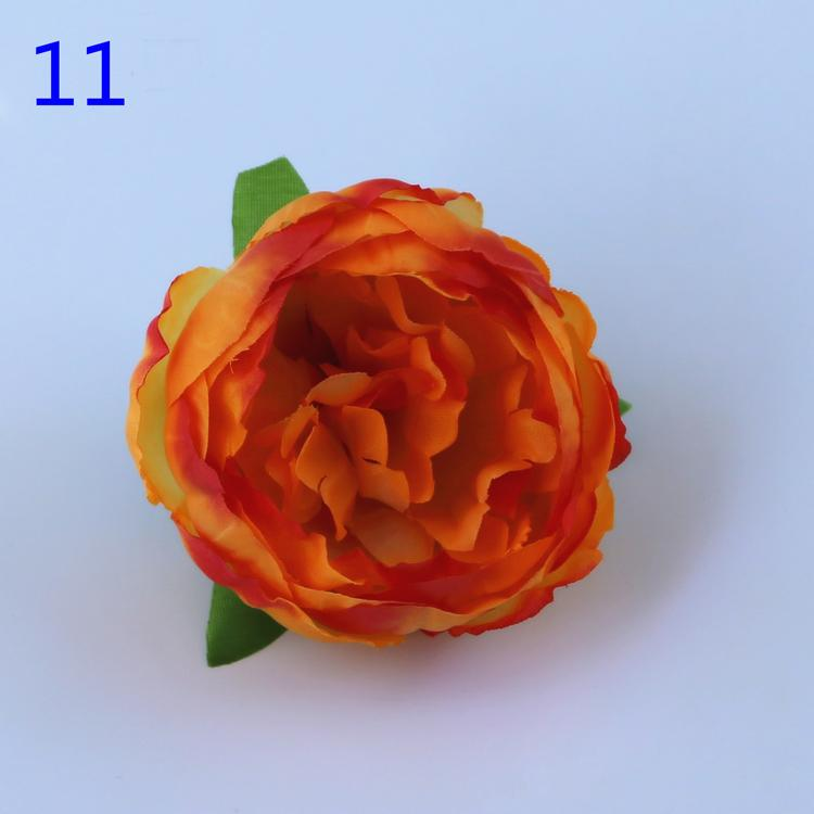 DIY Artificial Flowers Silk Peony Flower Heads Wedding Party Decoration Supplies Fake Flower Head Home Decorations