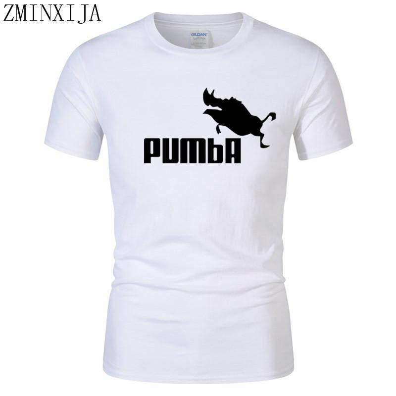 ab62fd152 Funny Tee Cute T Shirts Homme Pumba Men Short Sleeves Cotton Tops Cool  Tshirt Lovely Kawaii Summer Jersey Costume T Shirt Funny It Shirts  Ridiculous Shirts ...