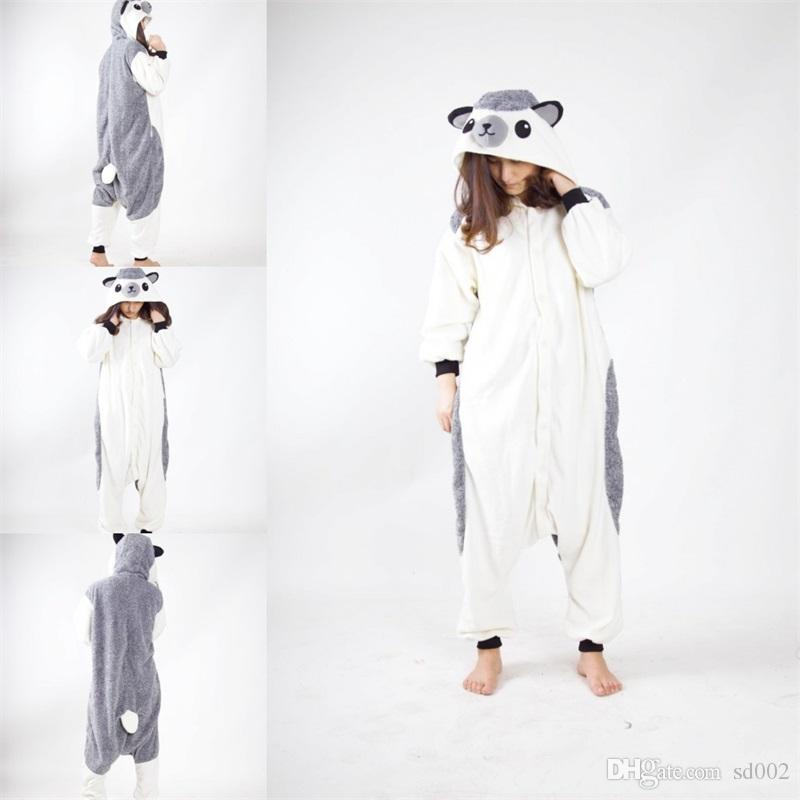 7db121d12ff8 2019 Winter Cartoon Conjoined Pajamas Hedgehog Men Women Cosplay Halloween  Costume Cute Leisure Jumpsuits Warm Lovers Home Sleepwear 55mb Bb From  Sd002