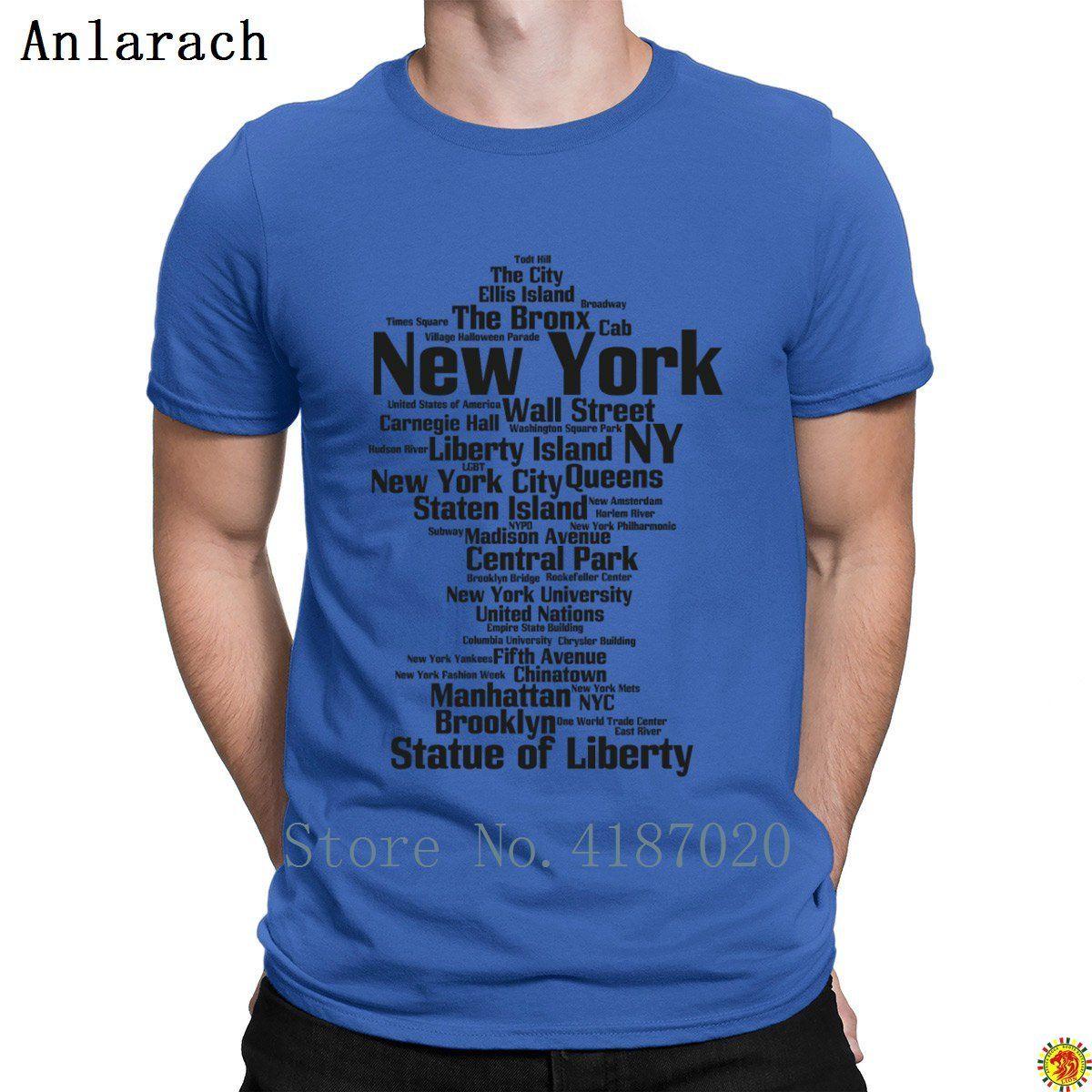 a1498a23e47ac Acheter New York Ny Nyc Tshirts Classique Crazy Top Tee Printemps Automne  Tshirt Pour Hommes Ajusté 100% Coton Tendance Anlarach Design De  16.15 Du  ...