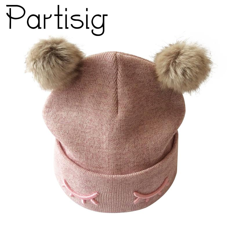 2019 Partisig Brand Baby Hat Crochet Double Pompom Hat For Girls Knitted Baby  Girls Cap With Pompom From Yohkoh 19280416c64