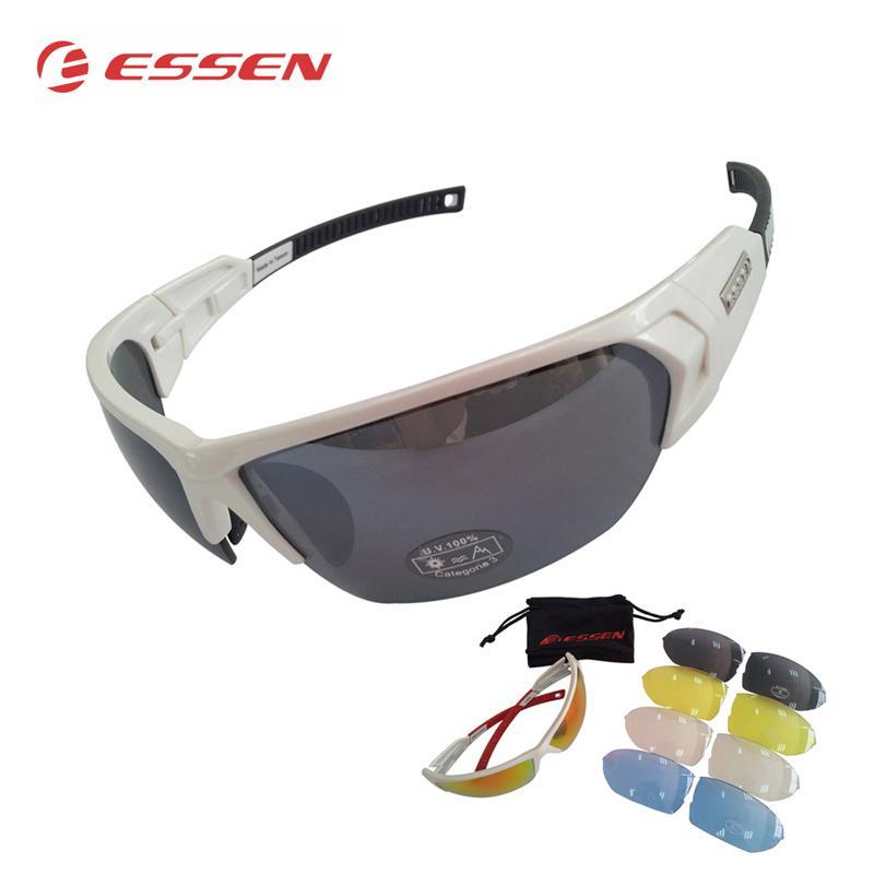 1264ea95c6 ESSEN Gafas De Ciclismo Polarizadas Hombres Deportes Gafas De Sol Carretera MTB  Mountain Bike Bicicleta Montar Gafas De Protección Gafas 5 Lente Por  Booket, ...