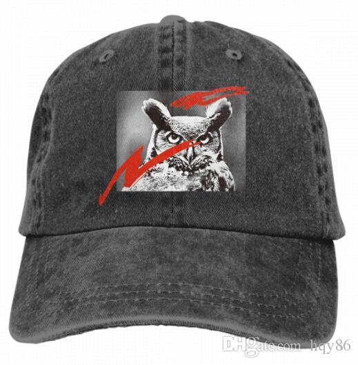 01c731f9b9033 Great Snowy Horned Owl Vintage Classic Unisex Baseball Cap Adjustable  Washed Dyed Cotton Ball Hat Multi Color Optional 4322105 Cool Hats Lids Hats  From ...