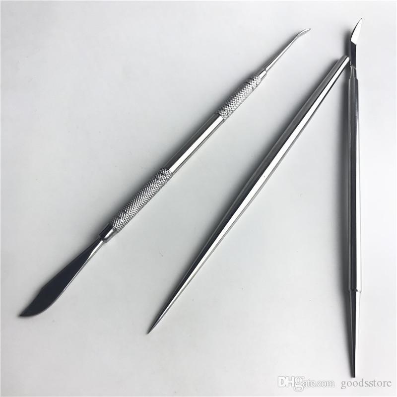 NUOVO 6.5 pollici Spada in metallo Wax DAB Strumento in acciaio inox Acciaio inossidabile Strumenti erba di olio Vaporizzatore Smoking Knife Shovel
