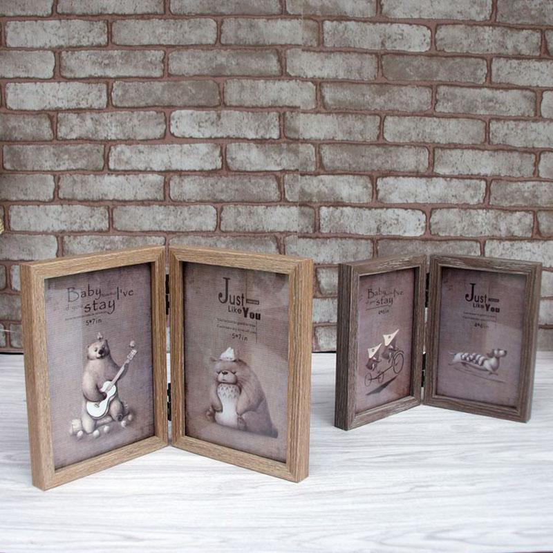 Modern Style Holz Bilderrahmen Home Cinderala Serie 2 Boxen Holz Bilderrahmen Neujahr Dekor Hochzeit Bilderrahmen Geschenke