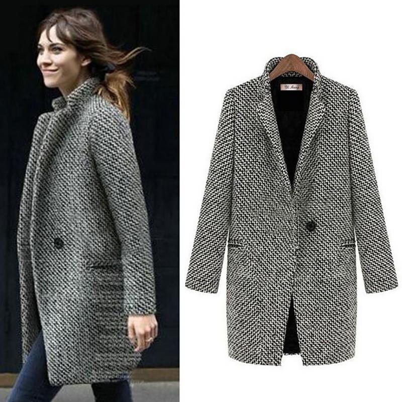 c6edec4b71 Cappotto da donna lungo in lana moda Fenghua Cappotto invernale donna Plus  Size Cappotto in misto lana 2018 Cappotto in tweed Capispalla 5XL 6XL 7XL  ...