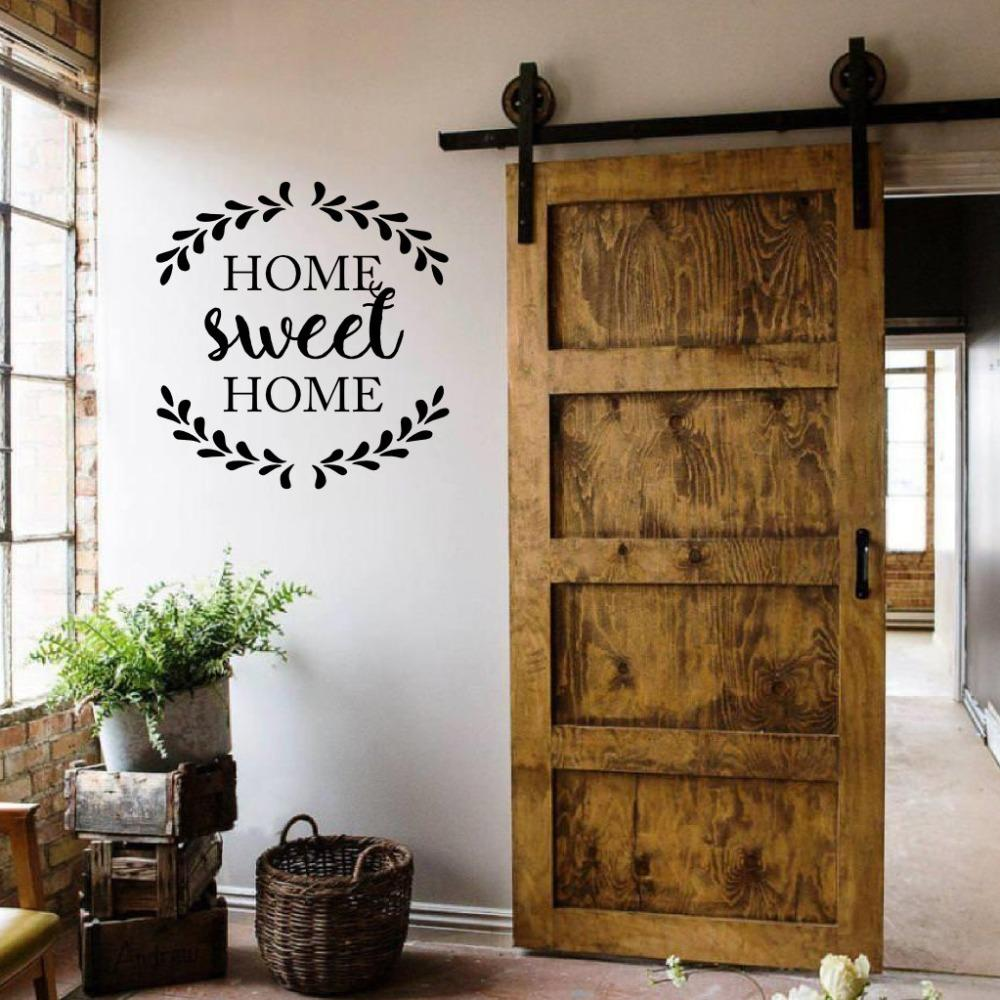 Home Sweet Home Quote Decal Decoration Door Rustic Cottage Wall