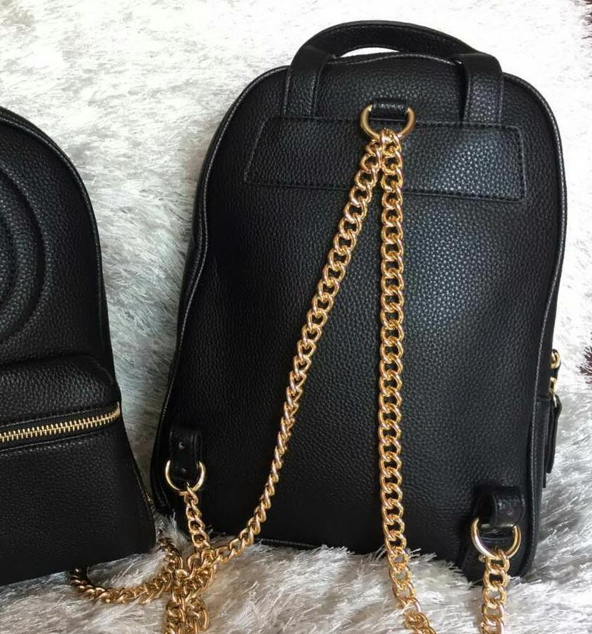New women chain fashion casual Backpack style bag lady double shoulder handbag black/red color no128