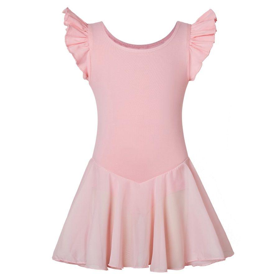 250d4fd14 Girls Dance Ballet Leotard with Flying Sleeve Flowy Tutu Skirt ...