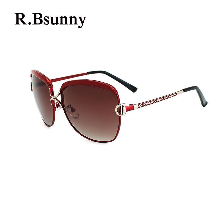 4cf953514 Compre R.Bsunny R7691 Gafas De Sol Polarizadas Mujeres De Gran Marco Moda  Gafas De Sol HD Retro Clásicas Compras Ocasionales Gafas De Conducción  UV400 D A ...