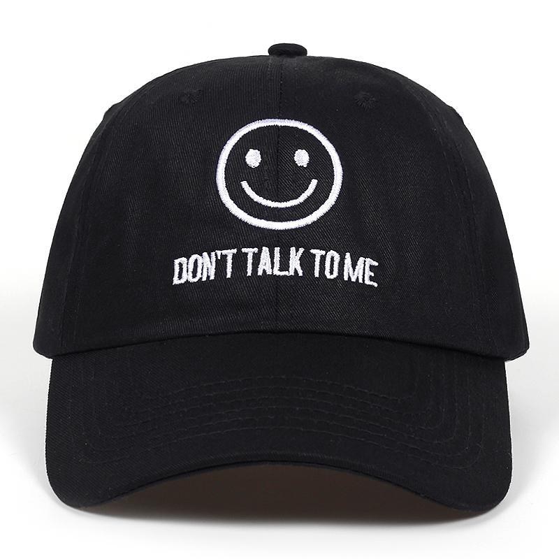 c5431e1814e 2018 New DONT TALK TO ME Dad Hat Men Women Fashion Face Hip-hop ...
