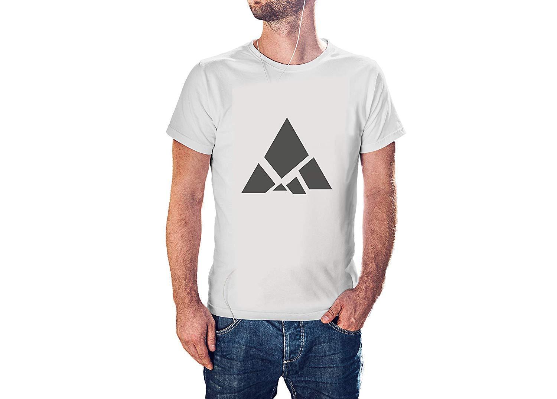 online retailer 8c12a 38eef EGDShirts dreieckige Berg Figur T-Shirt, coole moderne T-Shirts für Herren  (J848)