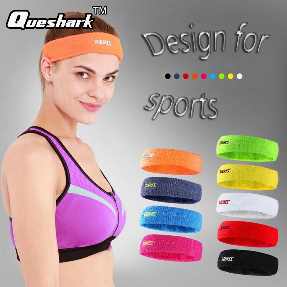 Men Women Cotton Towel Sweatband Yoga Fitness Hair Bands Running ... acf6d1d7cf4