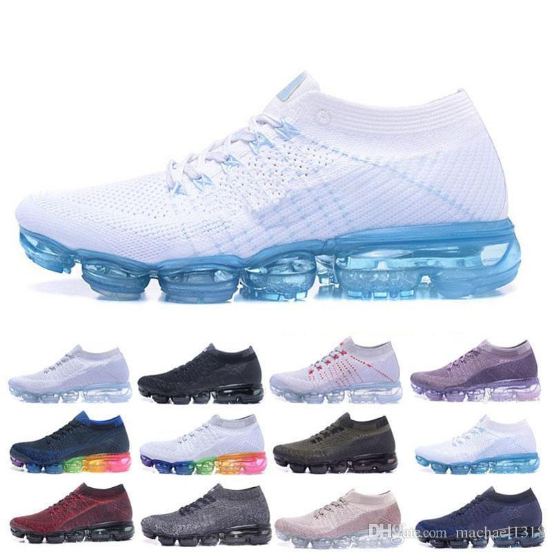 Vapormax 2018 Air Men&Women Classic Outdoor Run Shoes Vapor Black White Sport Shock Jogging Walking Hiking Sports Athletic Sneakers real cheap online Fzzf2B