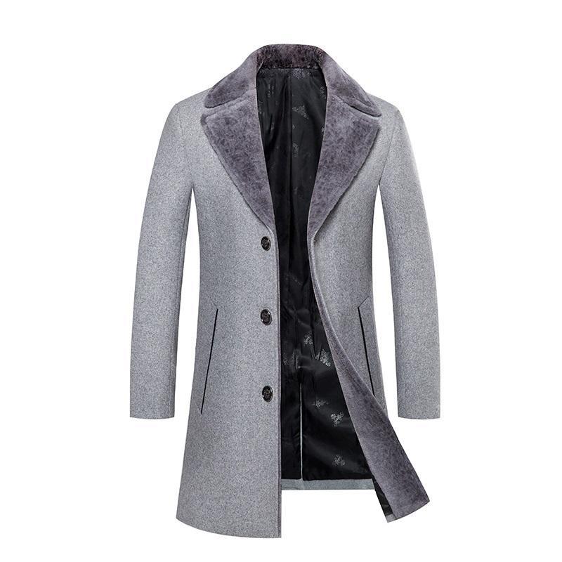 2018 Herrenmode Woolen Trenchcoat Jacke Herren Casual Woolen Jacken Wolle Business Classic Männer Mantel Jacken