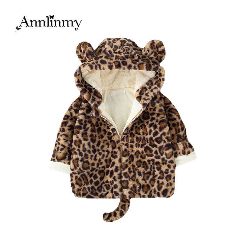 163e836e1 Kids Boy Coat 2018 Winter Girl Clothes Fashion Leopard Print Plus Velvet Warm  Boys Jacket Lovely Faux Fur Coat For 0 3 Age Girls Warm Coats For Girls Kids  ...