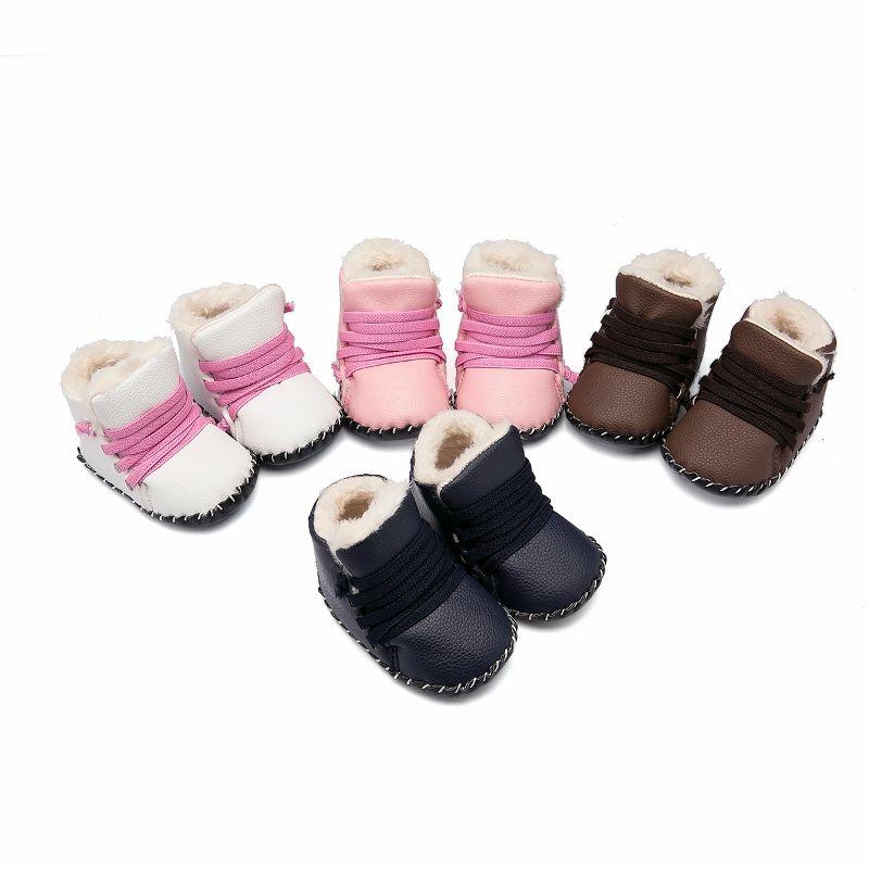 Baby Girls Boys Shoes Infants Warm Fur Wool Genuine Leather Frenulum Baby  Shoes Boots0368 First Walkers Cheap First Walkers Baby Girls Boys Shoes  Infants ... cf1b4eda45ec