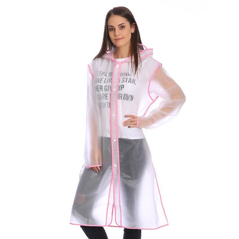 a9db416edbb6d Compre Transparente Hombre Mujer Ropa De Lluvia Ropa De Lluvia Impermeable  Portátil Adultos Accesorios Al Aire Libre Envolviendo Edge Impermeable EVA  A ...