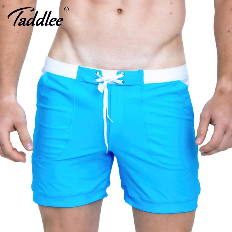 04cbdd34bac 2019 Taddlee Brand Hot Sale Sexy Men Swimwear Swim Boxer Trunks Beach Board  Shorts Plus Big Size Solid Color Basic Men S Swimsuits From Sweet59