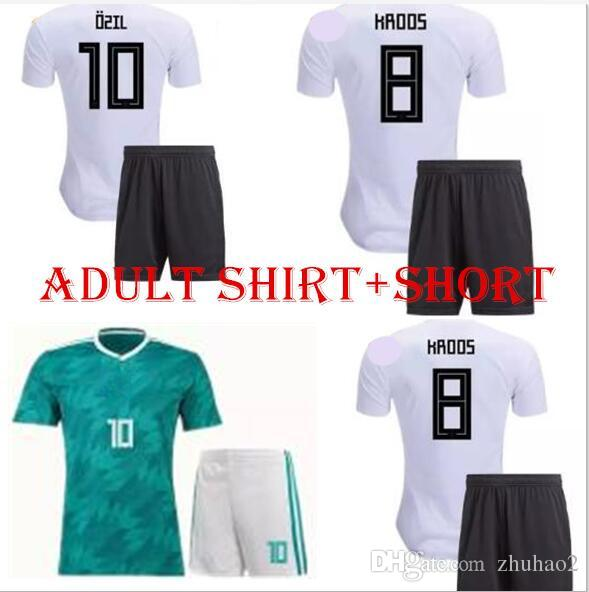 556f9fd38 2019 2018 World Cup Team Soccer Sets OZIL MULLER GOTZE KROOS REUS Football Kit  GerMANy Home Away Green Soccer Set Adults Thai Quality Wears From Zhuhao2