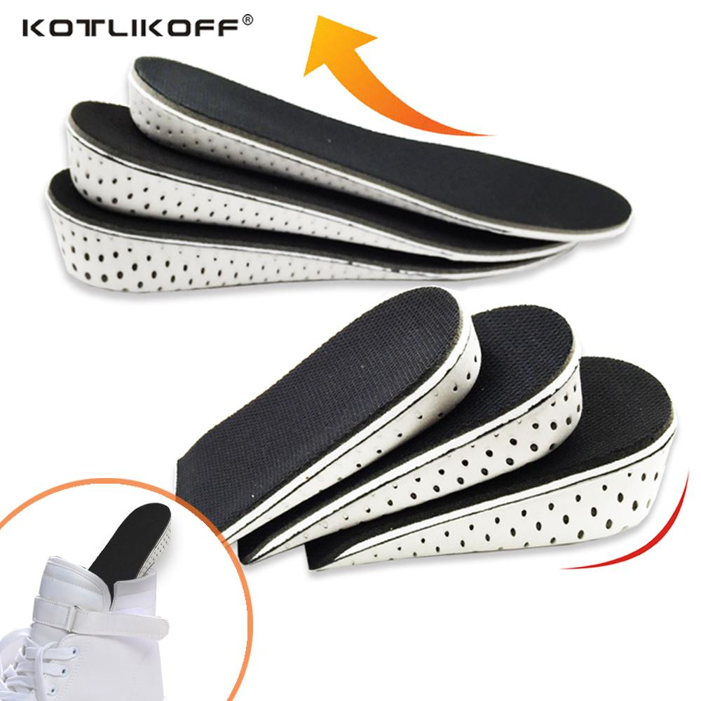 34b79f175a5f8 EVA Invisible Height Increase Insole 2.3/3.3/4.3cm Unisex Height Full pad  half pad insoles Comfortable breathable insert insoles