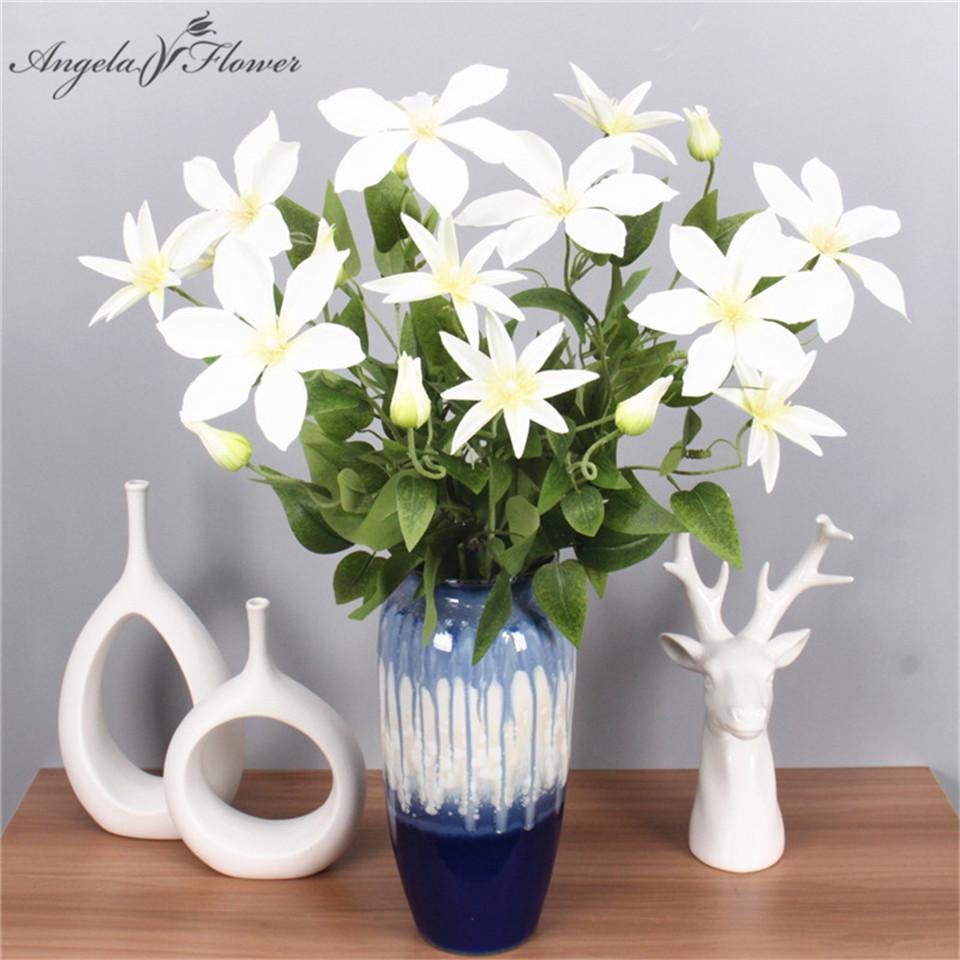 Artificial 69cm 3branch Lotus Wedding Simulation Flowers Home Garden