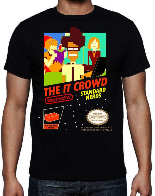 1f58f3168 The IT Crowd Standard Nerds Funny Geek Computer Tech TV Show New Black T  Shirt Online Tee Shirts Shopping Funniest Tee Shirts From Rmcitems, $11.01   DHgate.
