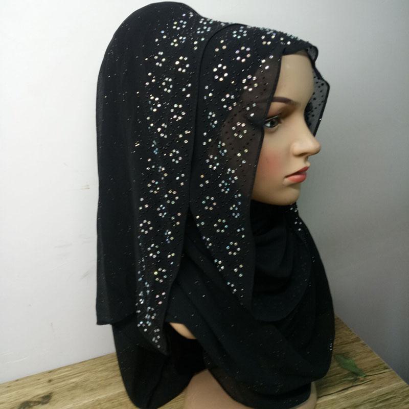 Acheter Bling Pierre Foulard Wrap En Mousseline De Soie 180   72cm  Chatoyant Écharpe Pailleté Hijab Châle À La Mode De  35.11 Du Watcheshomie    DHgate.Com b1a1572d6a1