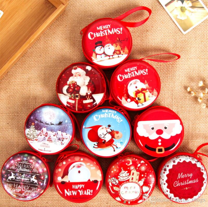 2018 Merry Christmas Happy New Year Coin Purse Wallet Box Zipper ...