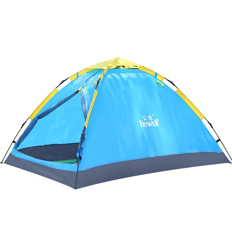 Hewolf 2 Person Single Layer 3 Season Tent Quick Automatic Open 200*150*110 Cm Outdoor Travel Family Drive C&ing Hiking Tent Hammock Tent Coleman Instant ...  sc 1 st  DHgate.com & Hewolf 2 Person Single Layer 3 Season Tent Quick Automatic Open 200 ...