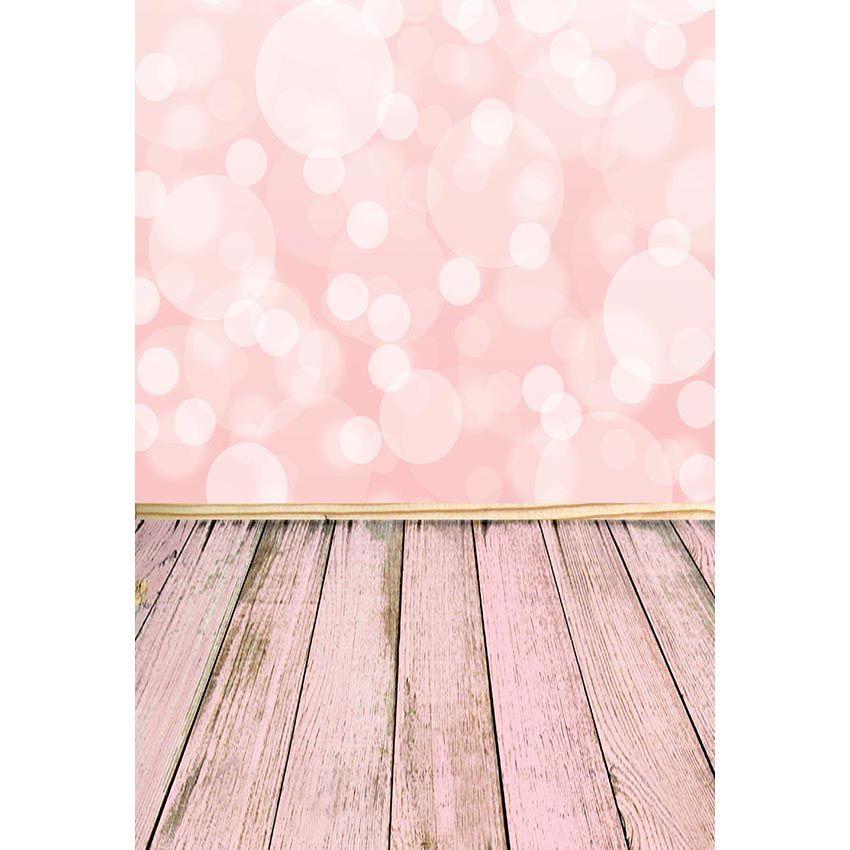 2019 Bokeh Polka Dots Girl Baby Shower Backdrop Light Pink Wall