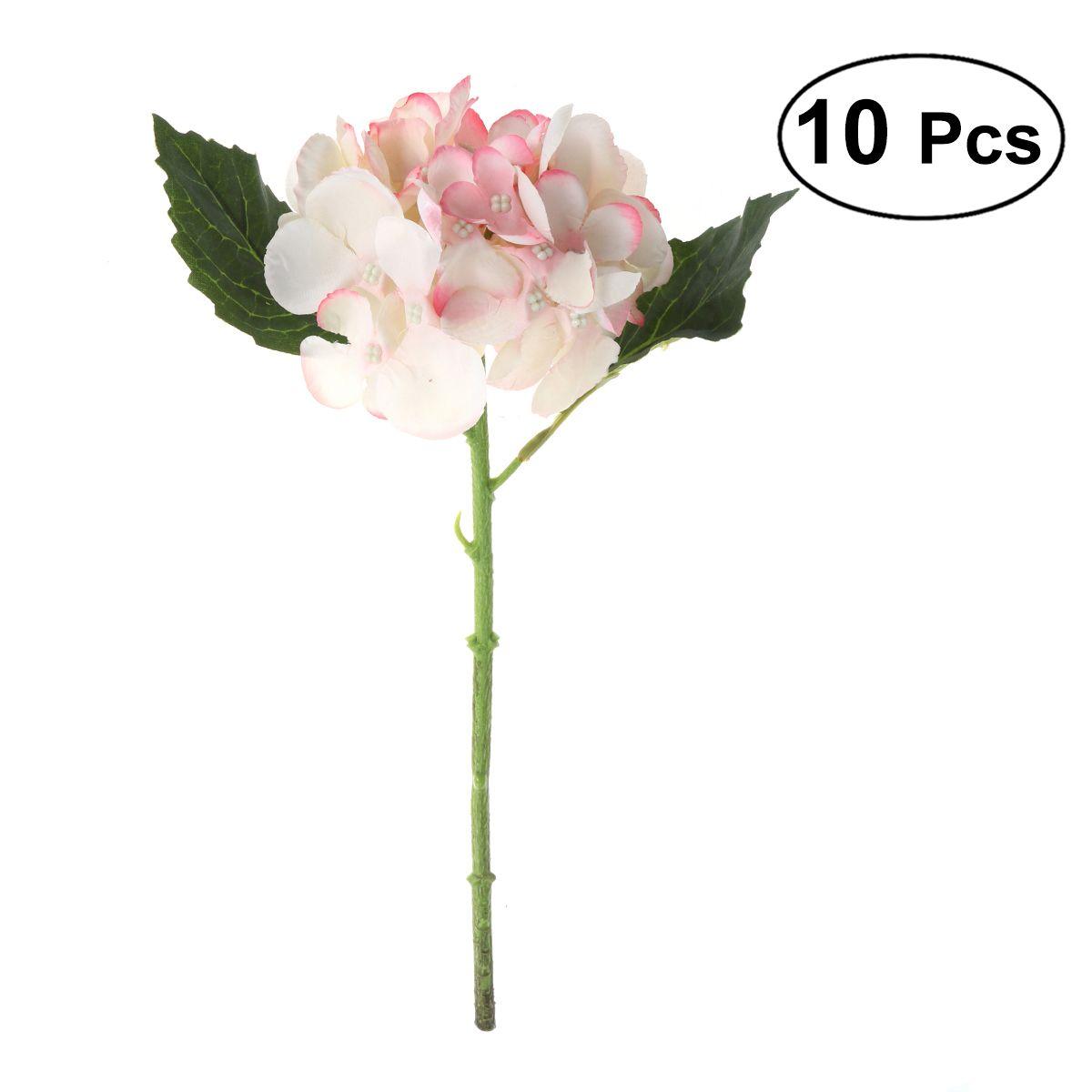 Flower Bunches Bouquet Artificial Silk Single Stem Fake Plants