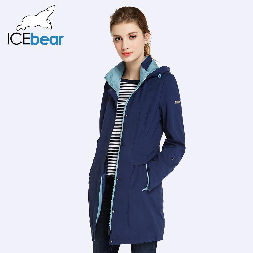 Acquista Icebear 2018 Womens Cappotto Di Alta Qualità Autunno E Primavera  Lungo Trench Coat Le Donne Giacca A Vento Cappello Staccabile 17g116d 2019  A ... 4b4392dc781