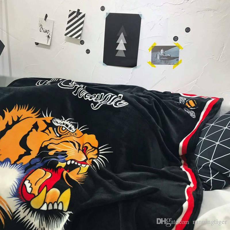 TIGER Blanket The Tiger Head Printed Blankets Manta Bathing Super Soft Fleece Blankets On The Bed Sofa Blanket 150*200cm
