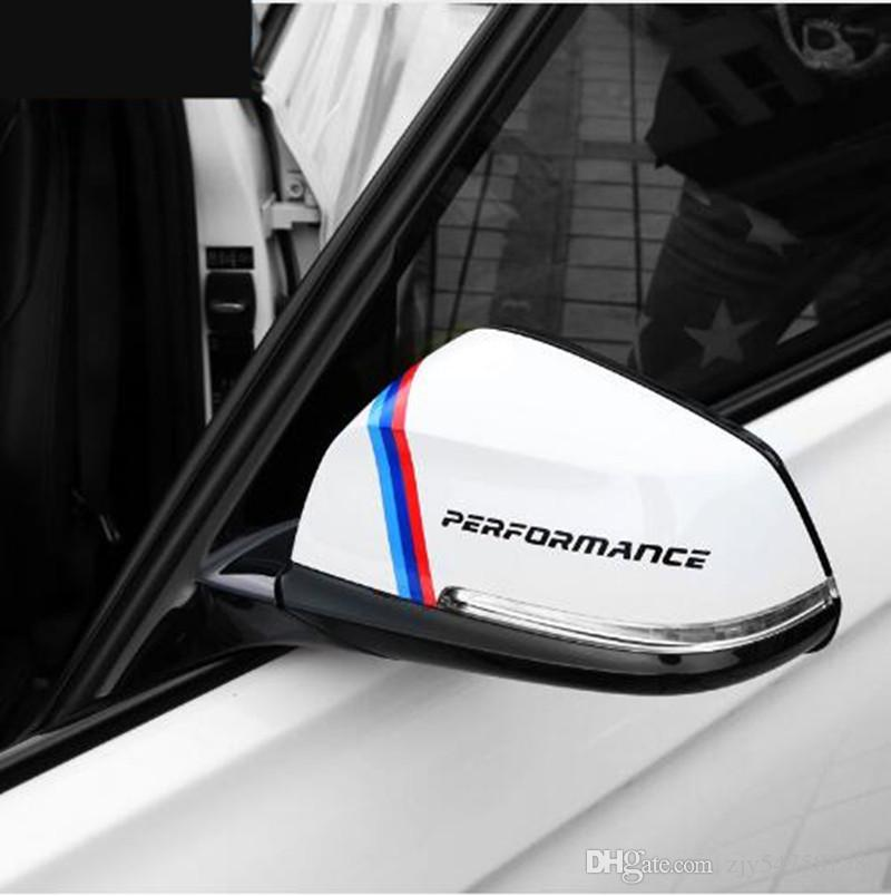 New Style Rearview Mirror Stickers Decoration For bmw e90 e46 f30 f10 f07 f34 x1 x3 x4 x5 e70 f15 x6 f16 M3 M5 Car Styling