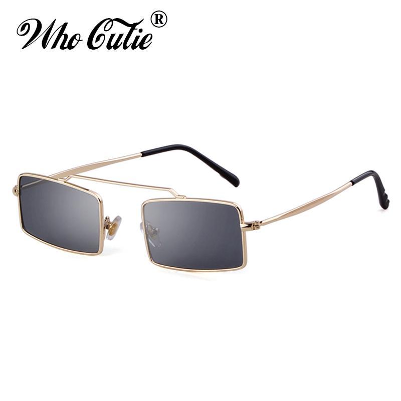 d2818d75f1bfe Compre Pequeno Retangular Do Vintage Óculos De Sol Das Mulheres Da Moda 90  S Óculos De Sol Dos Homens Da Marca Designer Retro Óculos De Sol Senhora  Shades ...