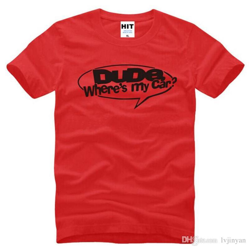 Mec Wheres My Car Drôle Imprimé T Shirts Hommes Style Été À Manches Courtes O-Neck Coton Hommes T-Shirt De Mode Hommes TShirt Top Tee