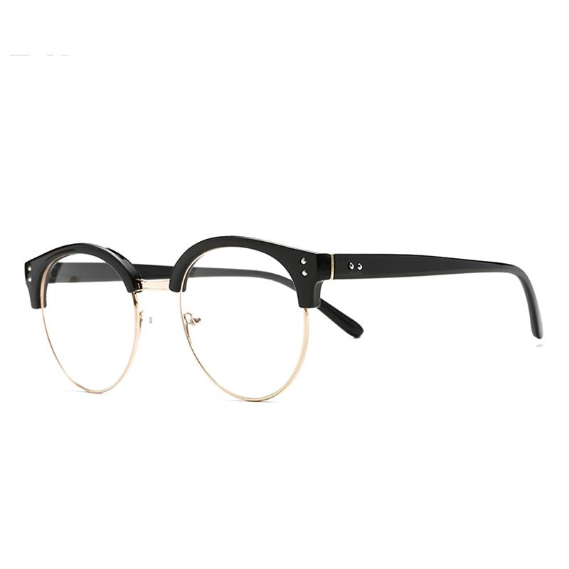 1b89896da4 Compre Acetato Óptico Gafas Remaches Ovalado Marco Moda Para Hombres  Mujeres Unisex Lentes Transparentes Chic Eye Glass Clear Lense A $14.0 Del  Qiufenshi ...