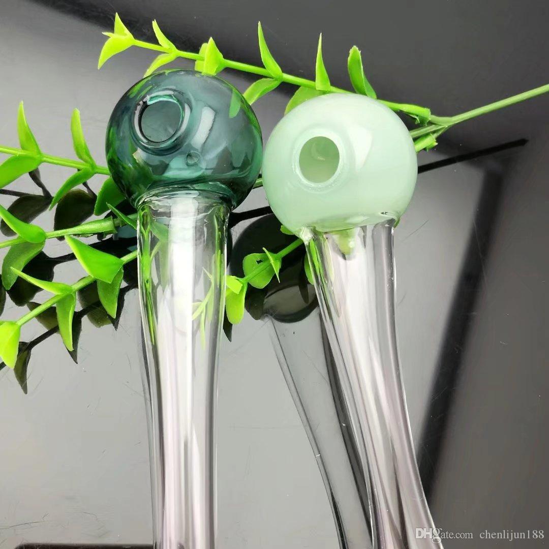 Bola redonda tubo de vidrio Bongs al por mayor Tubos de quemador de aceite Tubos de agua Tubos de vidrio Aparejos de aceite que fuman, envío libre