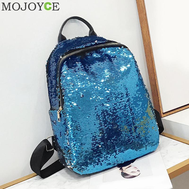 Glitter Backpack Women 2018 Summer Sequin Backpacks Teenage Girls Bling  Small Back Pack Fashion School Bag Mochilas Drop Ship Y18110201 Herschel  Backpacks ... 0bd9599c8a9e
