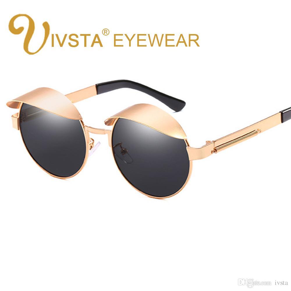7926ce8c68 IVSTA 2018 Fashion Steampunk Sunglasses Sunshade Glasses Metal Frame Round  Sunglasses Women Men Vintage Brand Design UV400 Protection CE FDA Round ...