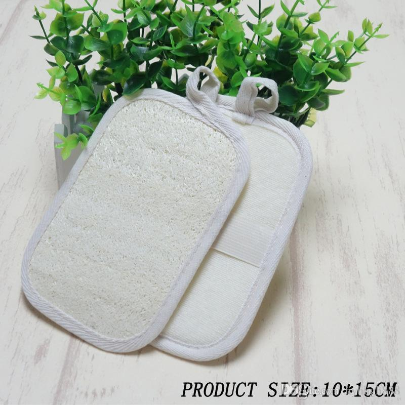 Natural 10*15cm Loofah Loofa Scrub Pad Spa Bath Loofah Gloves Bath ...