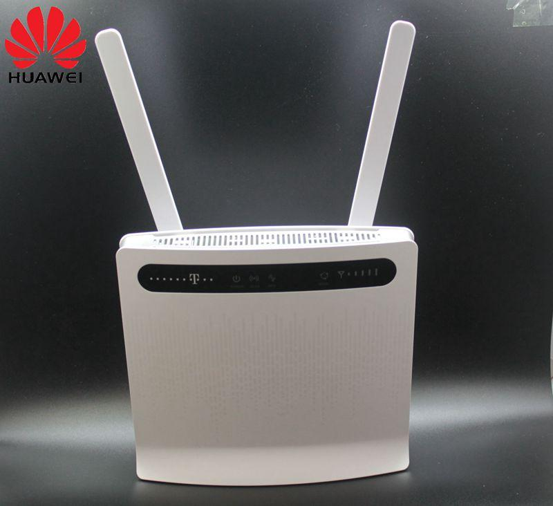 Unlocked Huawei B593 B593s-12 4G LTE Router 4G Router(plus antenna) with  Sim CardSlot LTE WiFi Router with 4 Lan Port PKB310