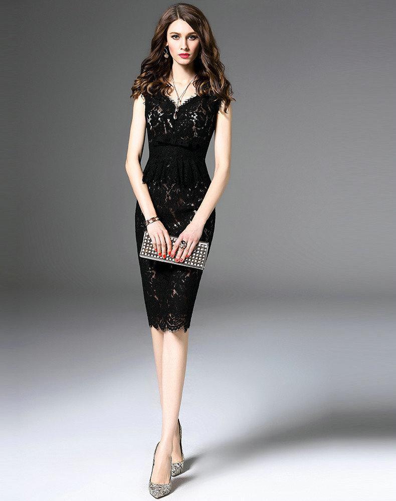 Großhandel Sexy Elegantes Spitzenkleid Sleeveless Frauen Neue ...