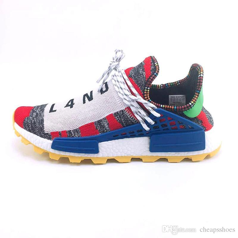 9eee3774f7831 2019 Human Race Running Shoes Pharrell Williams Hu Trail Cream Core Black  Nerd Equality Holi Nobel Ink Trainers Mens Women Designer Sneaker From  Cheapsshoes ...