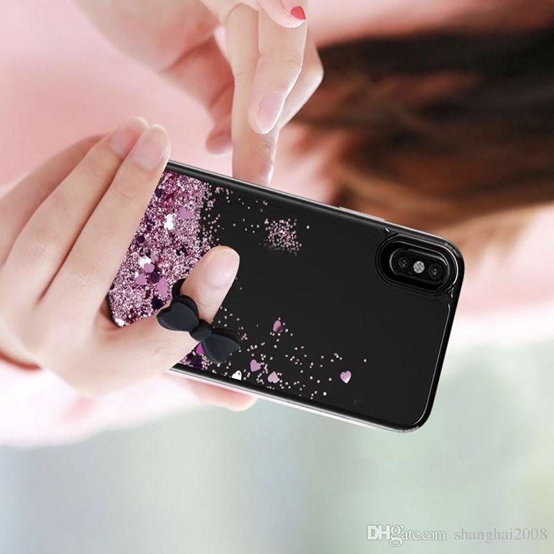 2018 New Transparent phone cases Fun Glitter Star Quicksand Liquid Phone Back cover For Motorola MOTO E4 LG K10 2018 V30 Aristo 2 X210
