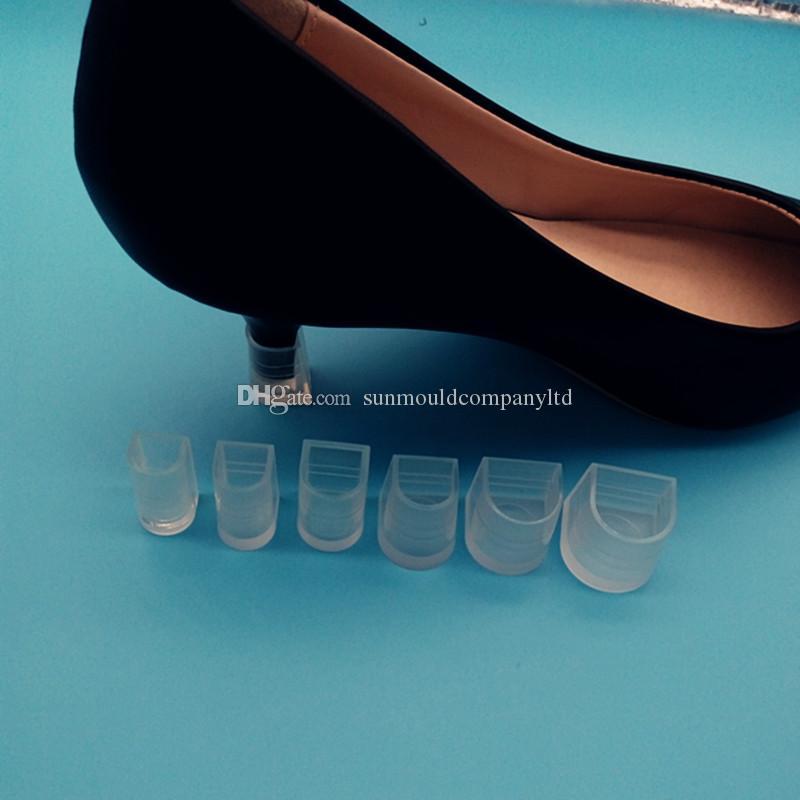 7 사이즈 하이힐 프로텍터 라틴 스틸레토 댄싱 슈즈 커버 힐 스토퍼 캡 커버 앤티 슬립 웨딩 파티 및 매일 사용 신발 선물