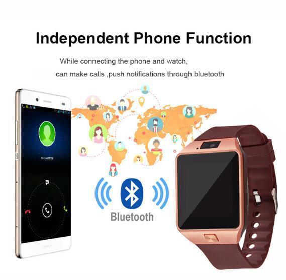 58c3f445b63 DZ09 Bluetooth Smart Watch Phone Mate Sports GSM SIM Camera Wearable Device  For IPhone Samsung Android Smart Watches Cheap Smart Watches DZ09 Bluetooth  ...