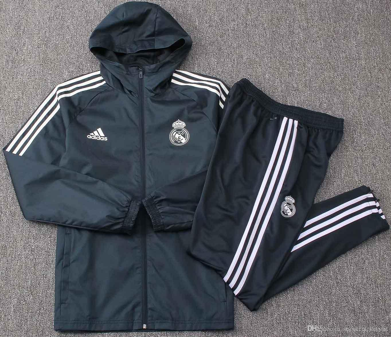 18 19 Best selling new Real Madrid jacket windcheater Suit 2018 2019 tracksuits soccer jersey Isco home and away Bell Windbreaker coat
