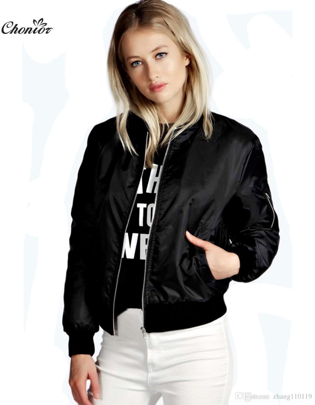 36e9ea68f9415 2018 European Style Womens Retro Long Sleeve O-Neck Short Zipper ...